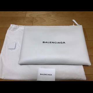 Balenciaga - BALENCIAGA クラッチバッグ ホワイト バレンシアガ クラッチ