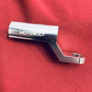 ハンドルクランプバー バイク用 ミラー取付タイプ ライト取付 スマホ取付(装備/装具)