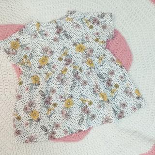 ZARA KIDS - Zarababy 花柄ドットTシャツ 104cm