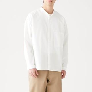 MUJI (無印良品) - MUJI labo 無印良品  綿 高密度 スタンドカラーシャツ