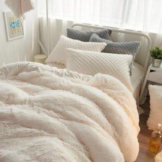 大人気 暖かい布団カバー シーツ 枕カバーセット(ホワイト、 シングル)