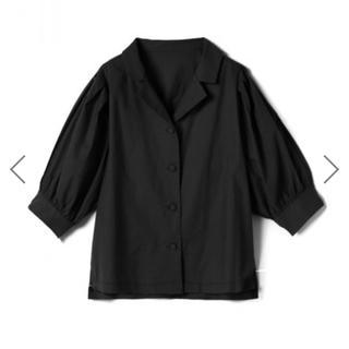GRL - グレイル ボリュームスリーブシャツ 黒