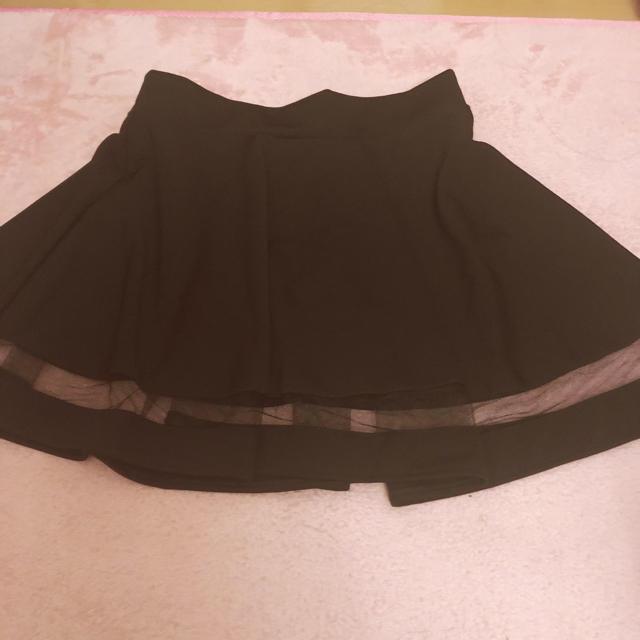 黒のミニスカート シースルー レディースのスカート(ミニスカート)の商品写真