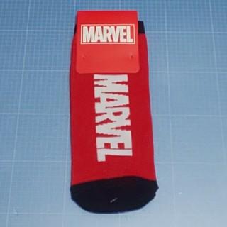 マーベル(MARVEL)のレディースソックス「マーベル」ロゴ(ソックス)