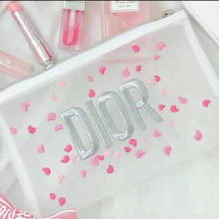 Christian Dior - 【店舗限定】ディオール 2020バレンタイン ノベルティポーチ メッシュ