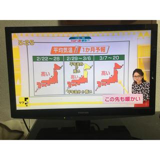 トウシバ(東芝)の美品 東芝 レグザ 19インチ TOSHIBA LED REGZA 19B5(テレビ)