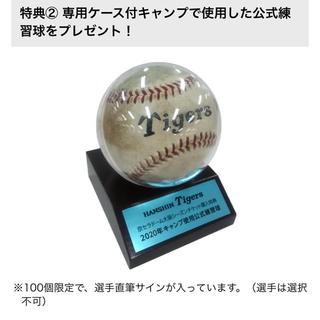阪神タイガース - 阪神キャンプ使用公式練習球特典商品引換券1枚(阪神タイガース/ボール/サイン)
