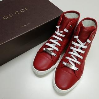 Gucci - 【GUCCI】グッチ レザー スニーカー シューズ 定価107,800円 新品