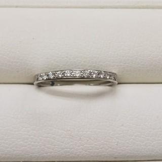4℃ - Pt950 ダイヤモンドリング ハーフエタニティ