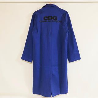 コムデギャルソン(COMME des GARCONS)の新品 コムデギャルソン CDGロゴ ロング ワークコート ブルー(その他)