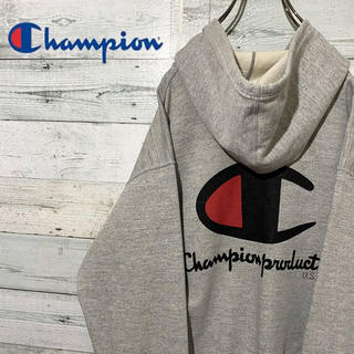 Champion - 【レア】チャンピオン☆日本製 ビッグロゴ 裏毛 パーカー