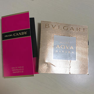 プラダ(PRADA)のPRADA&BVLGARIの香水サンプル(香水(女性用))
