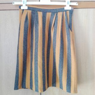 フィグロンドン(fig London)のフィグロンドン ストライプスカート(ひざ丈スカート)