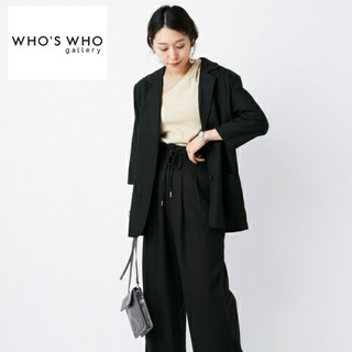 WHO'S WHO gallery - 新品タグ付♡今季新作 綿麻ジャケット フーズフーギャラリー