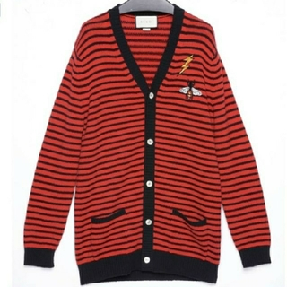 Gucci - GUCCI L/S CARDIGAN WOOL STRIPE  XL 19SS