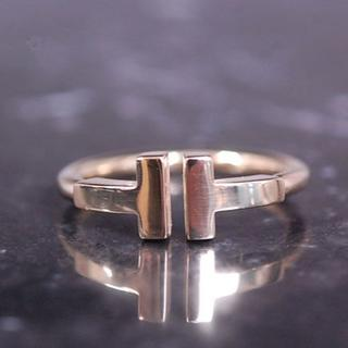 ティファニー(Tiffany & Co.)のTIFFANY&Co. ティファニー Tワイヤー ピンキー リング K18 YG(リング(指輪))