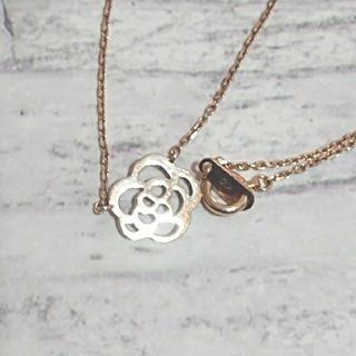 🌹バラの花🌹K10 お花のリバーシブルネックレス