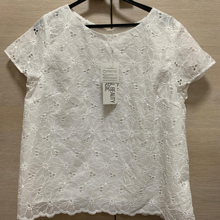 NATURAL BEAUTY BASIC - ナチュラルビューティーベーシック 白レースTシャツ
