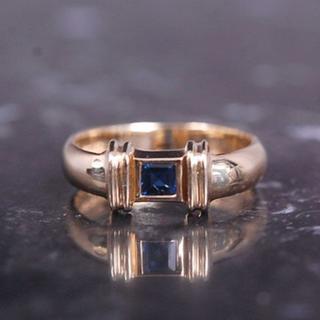 ティファニー(Tiffany & Co.)のTIFFANY&Co. ティファニー サファイア ピンキー リング K18 YG(リング(指輪))