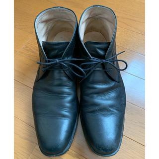 リーガル(REGAL)のREGAL リーガル チャッカブーツ 25.5 黒(ローファー/革靴)