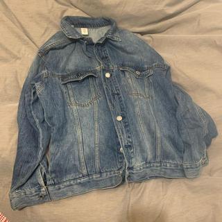 エイチアンドエム(H&M)のデニムジャケット Gジャン h&m 美品 オーバーサイズジャケット 34 xs(Gジャン/デニムジャケット)
