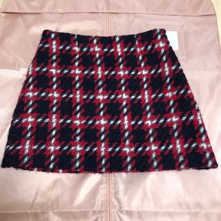 miumiu - miumiu♡台形 チェック ミニスカート
