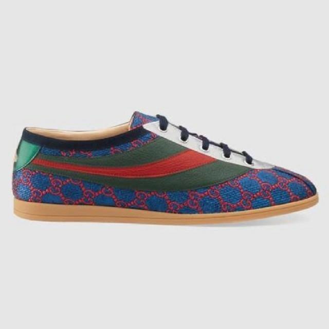 Gucci(グッチ)のGUCCI ウェブ ルレックス GG ロートップ スニーカー  9 ファレーサ メンズの靴/シューズ(スニーカー)の商品写真