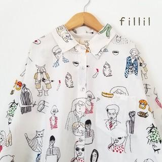 merlot - 最新作*フィリル ジャパニーズピープルシャツ 白
