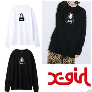 X-girl - 長袖 フェイスTシャツ
