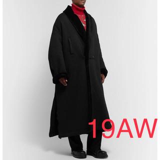アンダーカバー(UNDERCOVER)のUNDERCOVER 19AW Faux Fur BIGショールカラーコート(チェスターコート)
