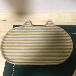 吉田千穂 ねこ 皿 大 2枚(食器)