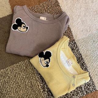 petit main - MickeyサガラTシャツ 2枚セット