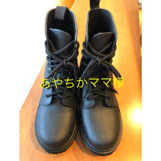 レインブーツ 21.5 22.0 黒 長靴
