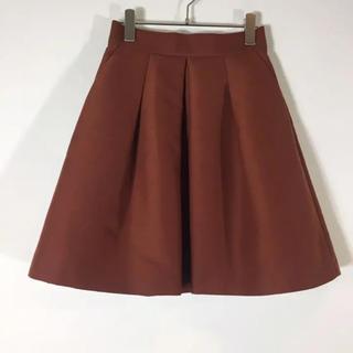 ジュエルチェンジズ(Jewel Changes)のジュエルチェンジズ  フレアスカート ライトブラウン サイズ36 プリーツ(ひざ丈スカート)