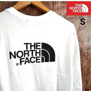 THE NORTH FACE - THENORTHFACE ビッグロゴ 長袖T 白 US/S 海外限定★新品