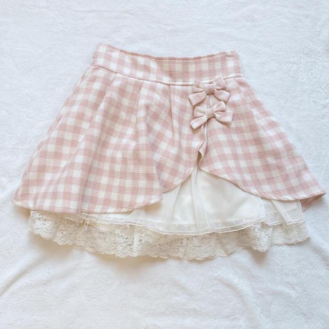 LIZ LISA(リズリサ)のLIZLISA ギンガムチェックスカパン レディースのスカート(ミニスカート)の商品写真