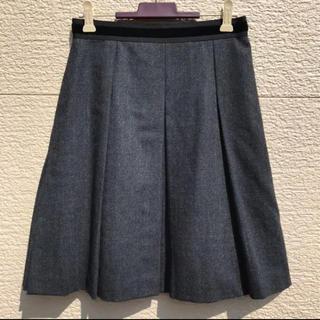 アンタイトル(UNTITLED)のUNTITLED アンタイトル スカート グレー 1(ひざ丈スカート)