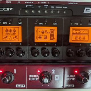 ズーム(Zoom)のZOOM B3 マルチエフェクター 付属品あり(ベースエフェクター)