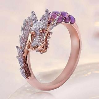 14号 ドラゴン リング 指輪 ピンク ゴールド(リング(指輪))