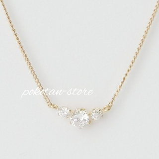 Vendome Aoyama - 美品【ヴァンドーム】K18YG スリーストーン ダイヤ ネックレス