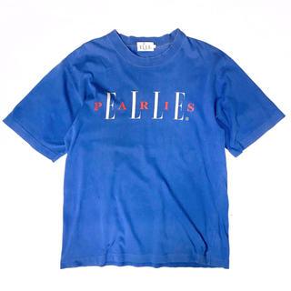 エル(ELLE)の《ロゴT》 90s ELLE PARIS エルパリ Tシャツ ビッグロゴ(Tシャツ(半袖/袖なし))