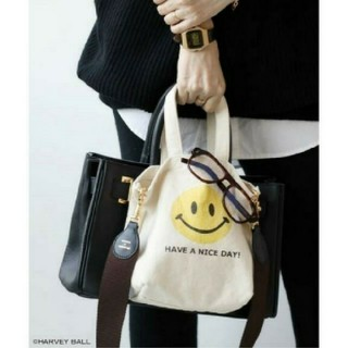DEUXIEME CLASSE - ドゥーズィエムクラス SMILEY FACE SMILE BAG