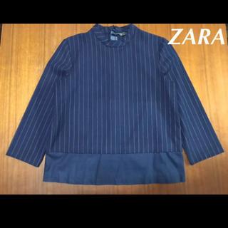 ZARA - 【未使用】ZARA 人気 ストレッチ 裾フリル ブラウス スーツ生地