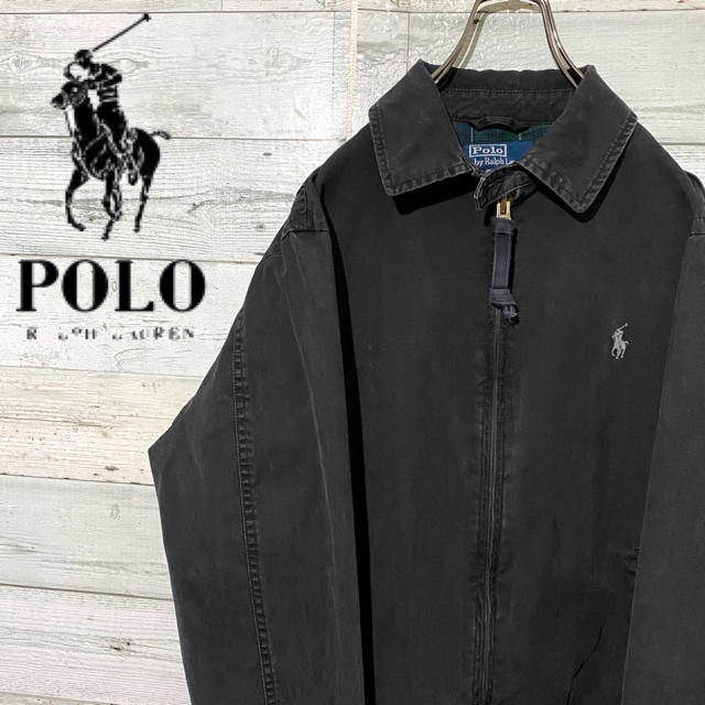 POLO RALPH LAUREN(ポロラルフローレン)の【レア】ポロラルフローレン☆刺繍ロゴ チェック柄 スウィングトップ 90s メンズのジャケット/アウター(ブルゾン)の商品写真