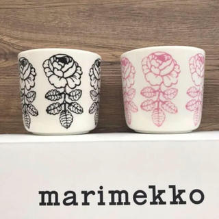 marimekko - マリメッコ  ヴィヒキルース  ラテマグ  ピンク ブラック