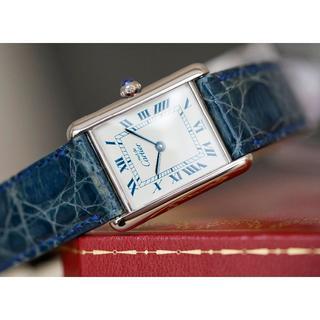 Cartier - 美品 カルティエ マスト タンク シルバー ブルーインデックス LM Carti