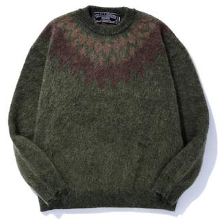 NEIGHBORHOOD - CHALLENGER DARK ARGYLE MOHAIR CREWNECK