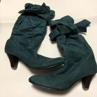 モスグリーン ブーツ(ブーツ)