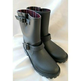 シマムラ(しまむら)の未使用 レインブーツ 黒 LL(エンジニアブーツ)しまむら(レインブーツ/長靴)