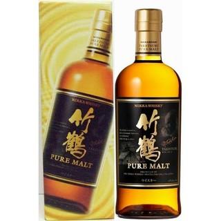 ニッカウイスキー(ニッカウヰスキー)の竹鶴ピュアモルト700ml カートン(化粧箱)付き(ウイスキー)